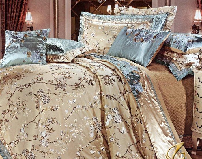 Bộ chăn ga trải giường nhập khẩu sắc hoa tinh tế