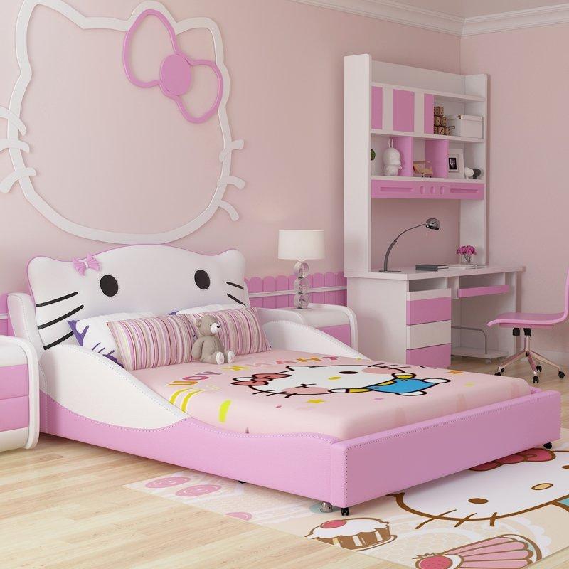 Top 10 mẫu giường ngủ hello kitty cực xinh dành cho bé gái
