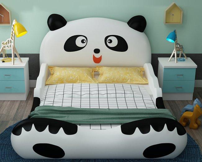 Giường ngủ cho bé trai hình chú gấu panda dễ thương