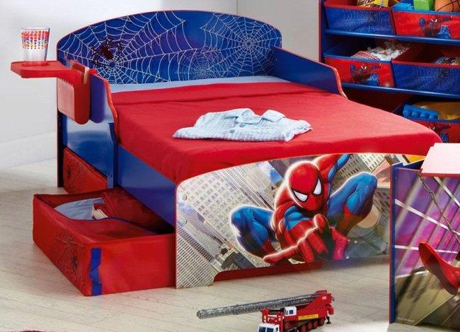 Mẫu giường ngủ cho bé trai hình người nhện