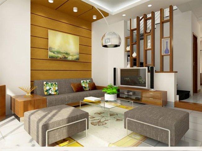 Thiết kế nội thất phòng khách đẹp đơn giản 4