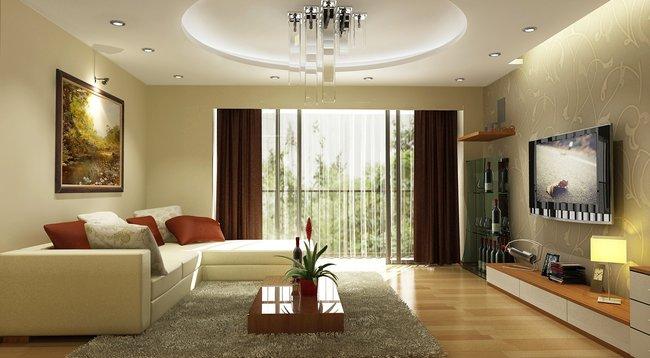 Thiết kế nội thất phòng khách đẹp đơn giản 3