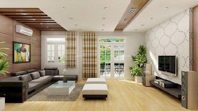 Thiết kế nội thất phòng khách đẹp đơn giản 2