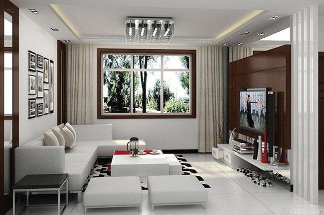 Thiết kế nội thất phòng khách đẹp đơn giản 8