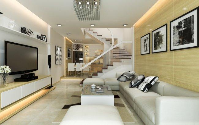 Thiết kế nội thất phòng khách đẹp đơn giản 7