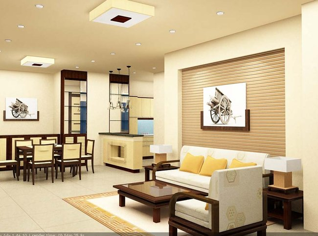 Thiết kế nội thất phòng khách đẹp đơn giản 5