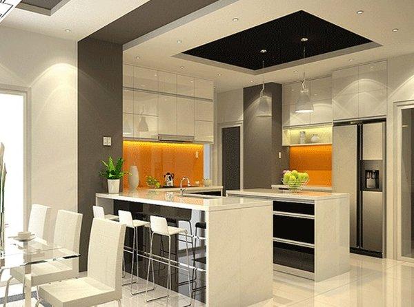 Thiết kế tủ bếp không gian mở hiện đại và tiện nghi