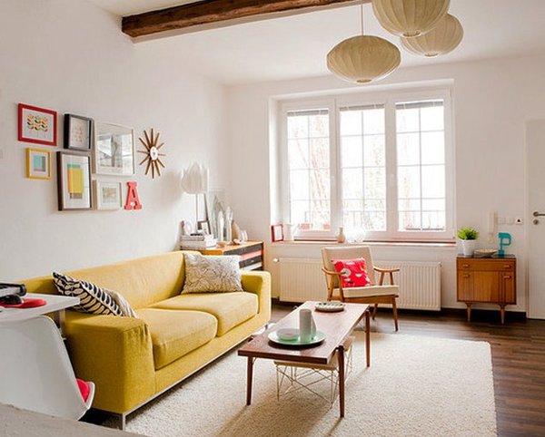 Màu sắc phù hợp với nội thất và không gian phòng khách nhỏ