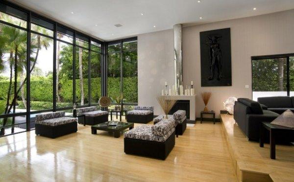 Salon làm điểm nhấn chính cho không gian của gia đình