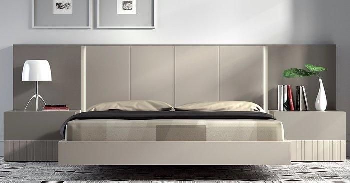 Giường ngủ hiện đại gỗ công nghiệp không chân