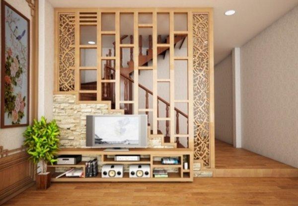 Vách ngăn Kiểu dáng đơn giản nhưng lại tạo nên sự hài hòa về tổng thể cho căn nhà
