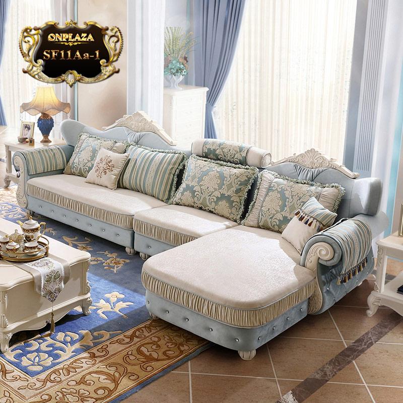 Bộ sofa chạm khắc tân cổ điển đính pha lê cao cấp SF11