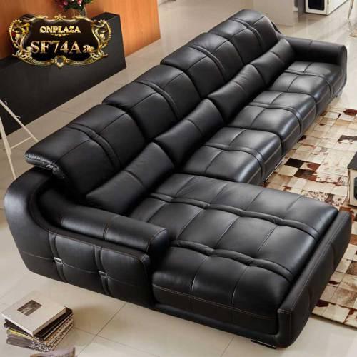 Sofa da cao cấp mới về cho phòng khách sang trọng hiện đại SF74