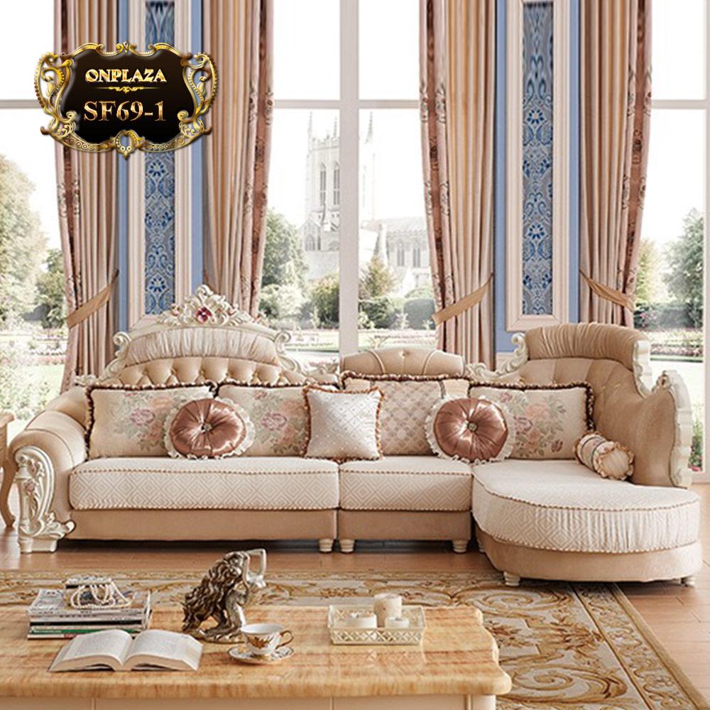 Bộ sofa phòng khách tân cổ điển phong cách châu Âu SF69