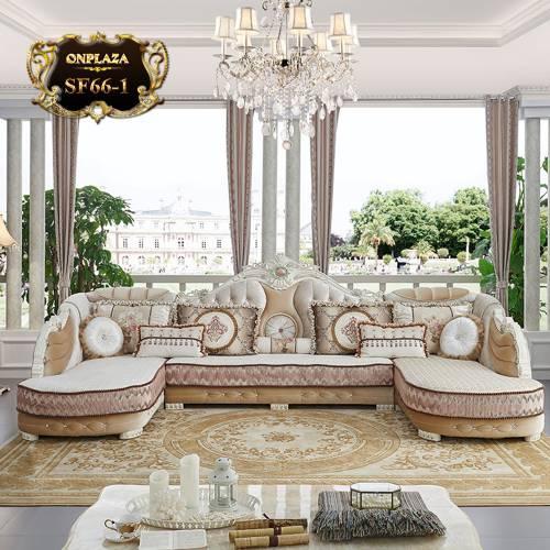 Bộ ghế sofa phòng khách tân cổ điển phong cách Châu Âu SF66