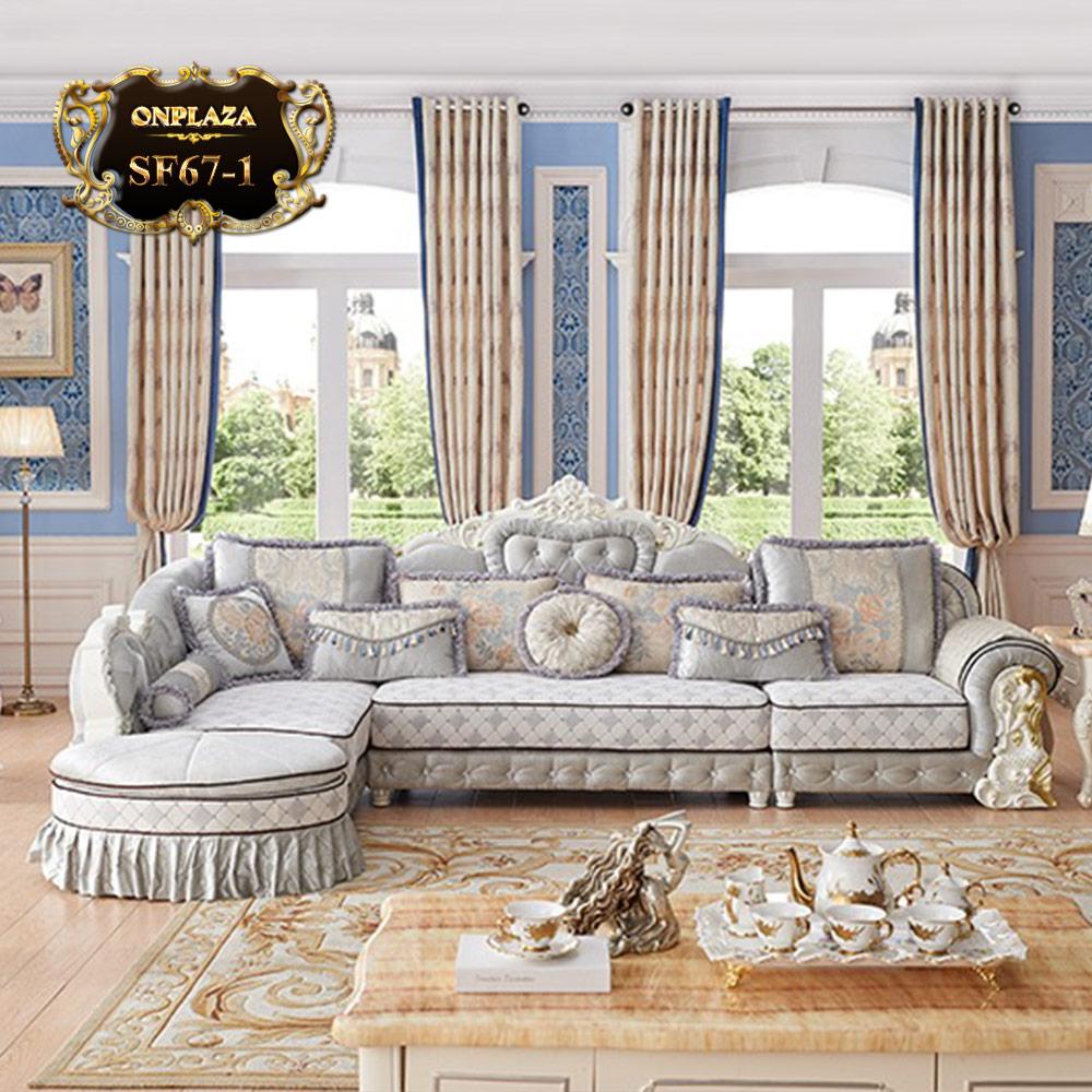 Bộ sofa phòng khách tân cổ điển hoàng tộc SF67