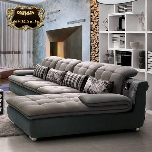 Bộ Sofa thư giãn 3 băng góc trái cao cấp SF04