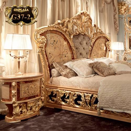 Tab đầu giường tân cổ điển phong cách hoàng gia G37-2