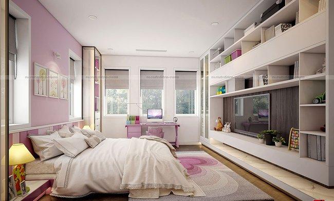 Mẫu thiết kế nội thất phòng ngủ rộng 20m2