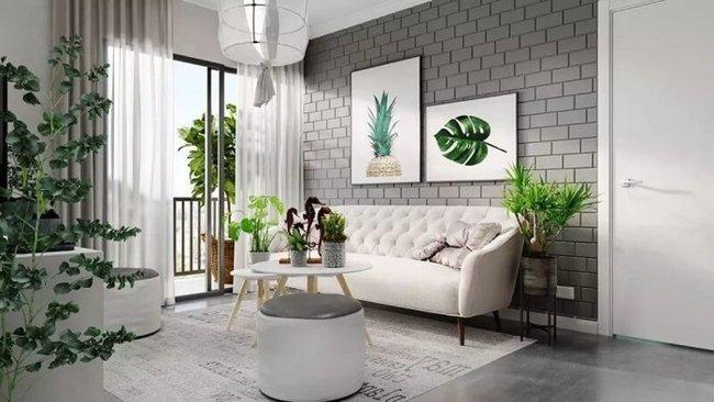 Thứ năm: Mẫu thiết kế phòng khách đơn giản đẹp gắn với thiên nhiên