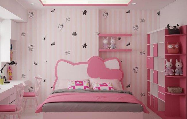Giường ngủ cho bé gái cực xinh