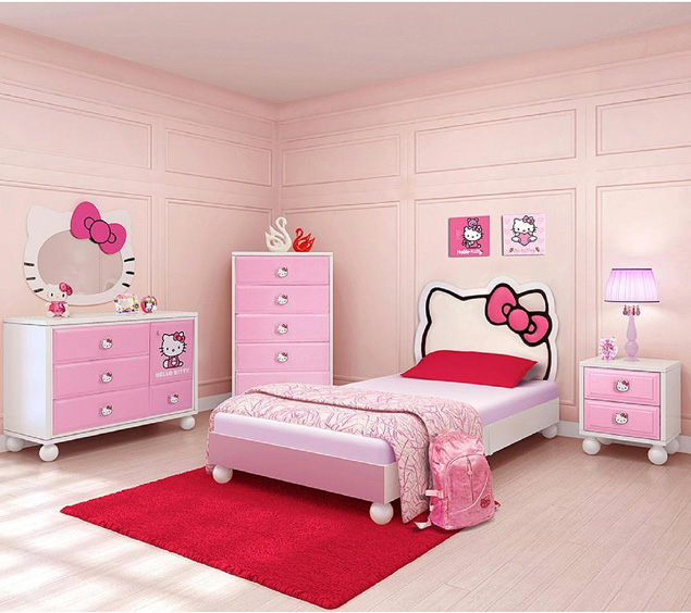 Giường ngủ siêu dễ thương cho bé gái