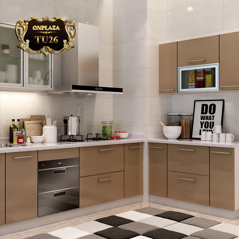 Tủ bếp thiết kế cao cấp cho phòng bếp sang trọng TU26