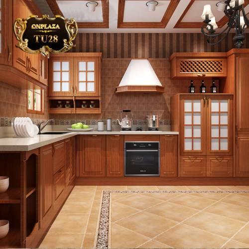 Tủ bếp thiết kế cao cấp cho phòng bếp sang trọng TU28