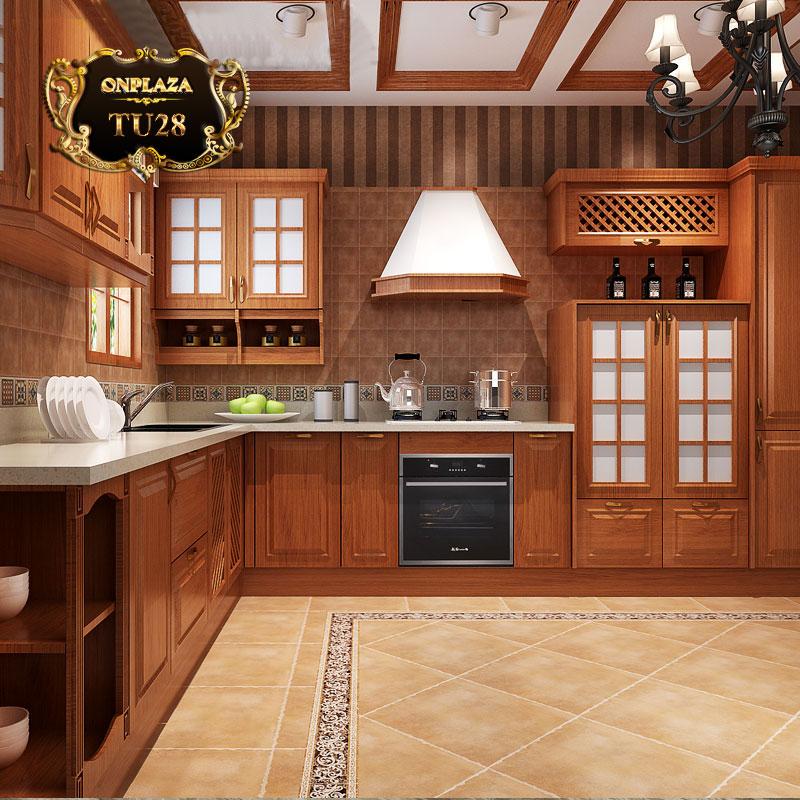 Tủ bếp thiết kế Nicafa chữ L, Nicafa chữ U TU28