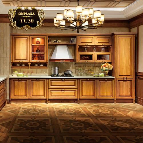 Tủ bếp bằng gỗ sang trọng phong cách Bắc Âu TU30