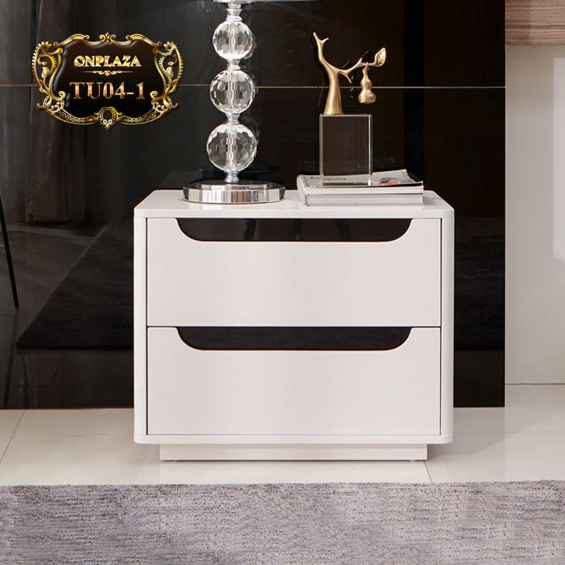 Bộ tủ ngăn kéo đựng đồ hiện đại sắc trắng thời thượng TU04