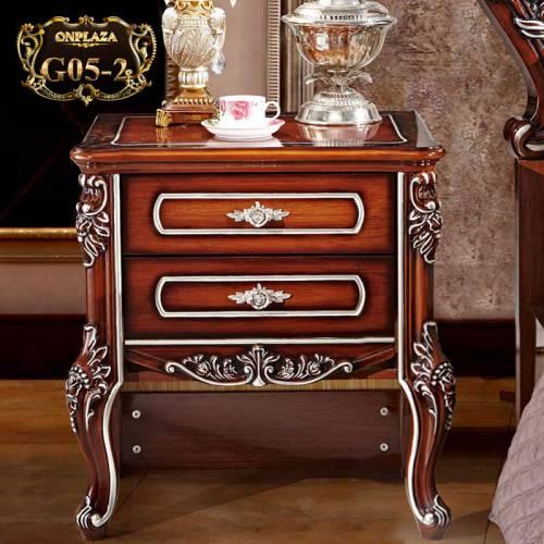Tủ nhỏ đầu giường phong cách hoàng gia sang trọng G05-2