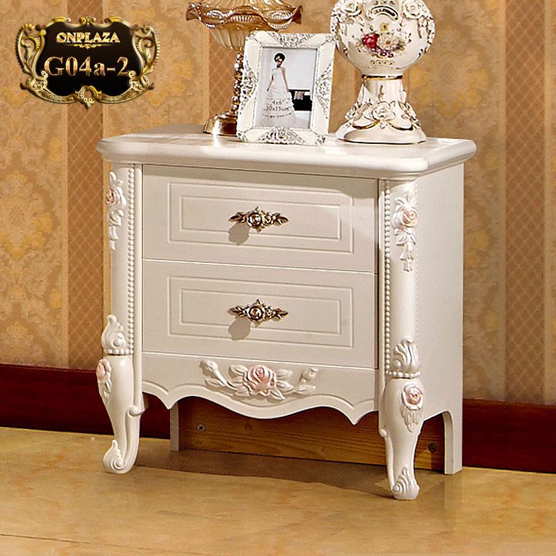 Tủ nhỏ kê đầu giường đẹp phong cách tân cổ điển G04a-2