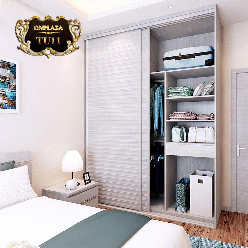 Tủ quần áo bằng gỗ công nghiệp tiện ích đa năng TU11