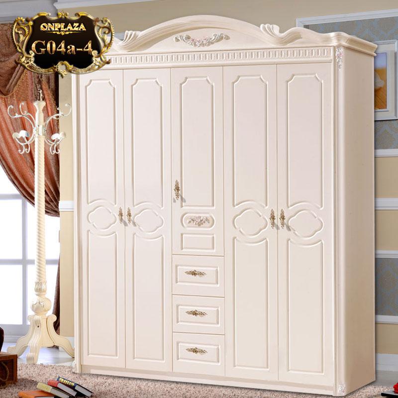 Tủ đựng quần áo phong cách tân cổ điển G04a-4