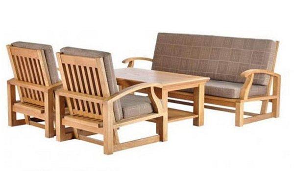 Bàn ghế phòng khách giá rẻ - Thiết kế đơn giản với màu sắc hài hòa