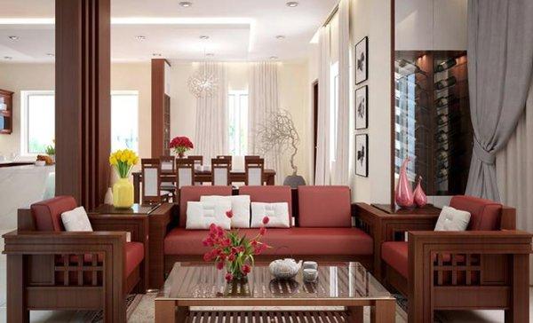 Mẫu bàn ghế gỗ giá rẻ đơn giản, màu sắc sang trọng và hài hòa