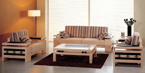 Mẫu sofa gỗ giá rẻ đơn giản nhưng đẹp